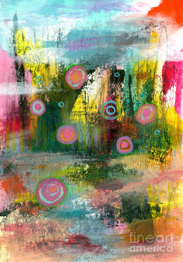 Abstract Landscape Painting - Elements of Change 1 Abstract Landscape Painting by Itaya Lightbourne