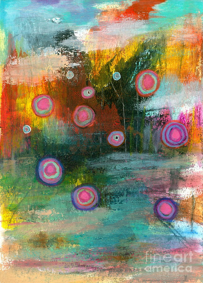 Abstract Landscape Painting - Elements of Change 2 Abstract Landscape by Itaya Lightbourne