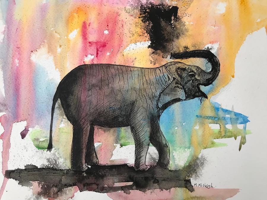 Elephant Painting - Elephant by Marita McVeigh