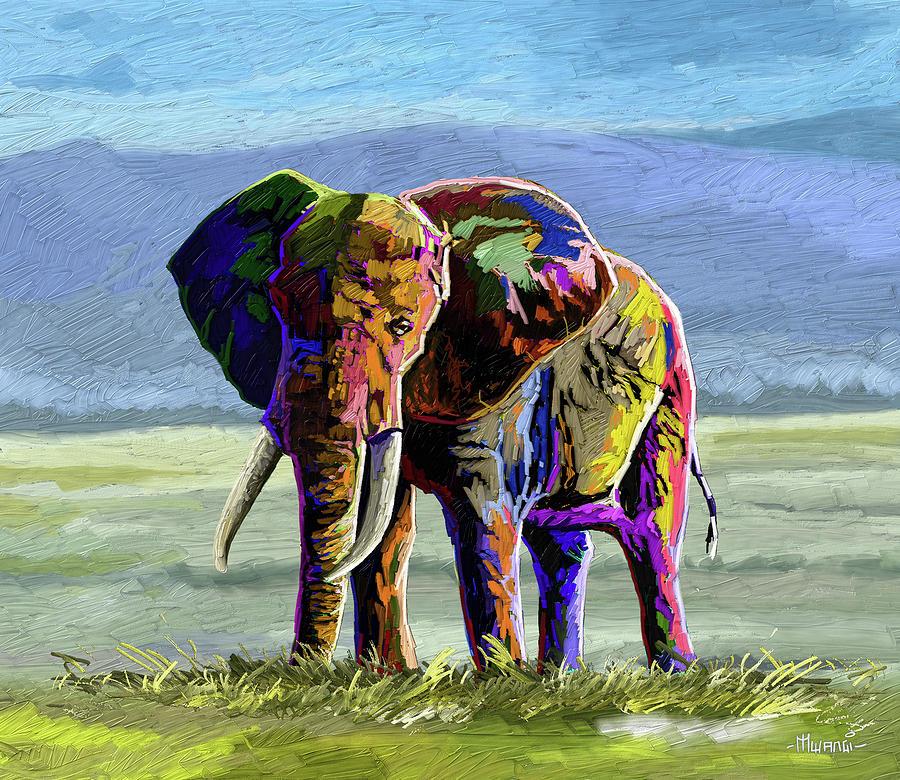 Elephant Power Painting