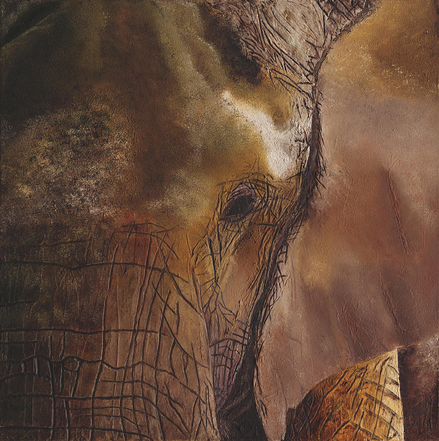 Elephant Painting - Elephant by Russell Hinckley