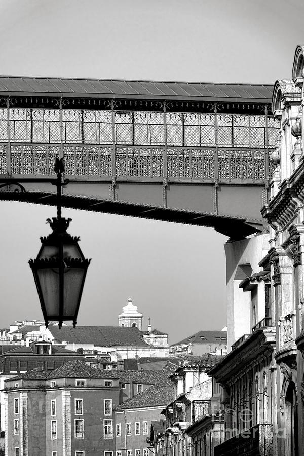 Lisbon Photograph - Elevador De Santa Justa Walkway by Olivier Le Queinec