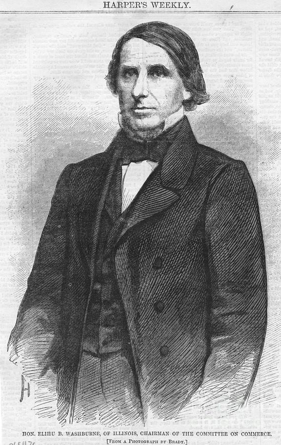 1860 Drawing - Elihu B. Washburn by Granger