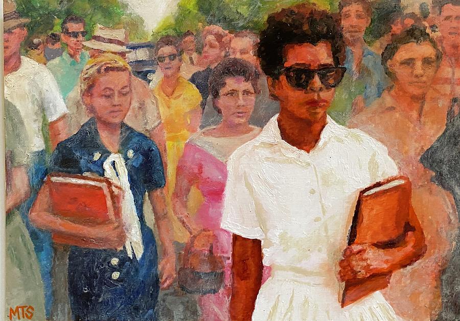 Elizabeth Eckford Painting by Matthew Sanderson