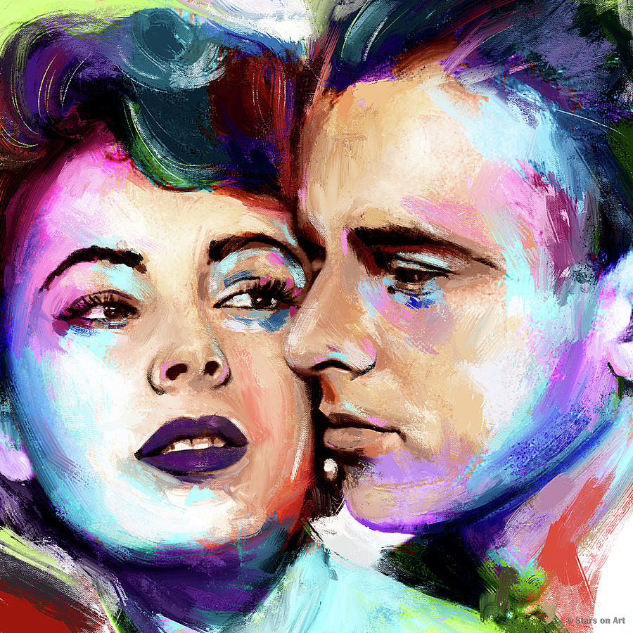 Elizabeth Taylor And Montgomery Clift Painting Painting