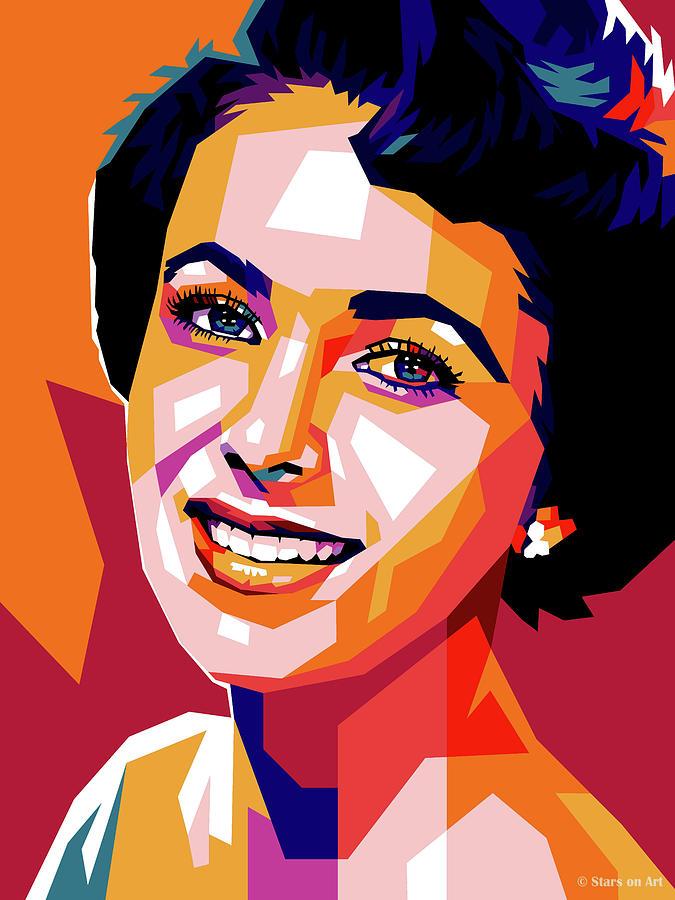 Elizabeth Taylor - Early Mixed Media
