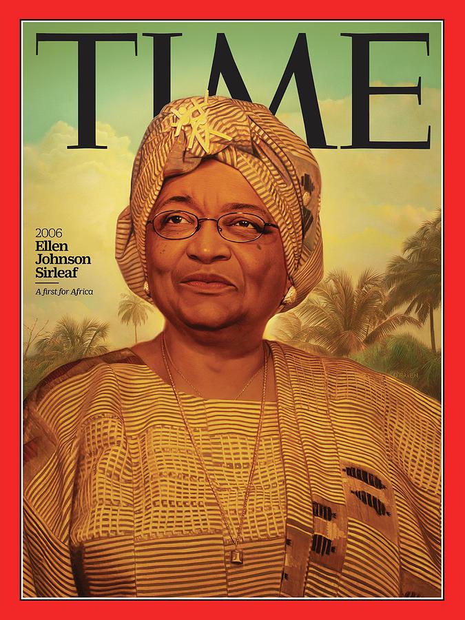 Time Photograph - Ellen Johnson Sirleaf, 2006 by Illustration by Tim OBrien