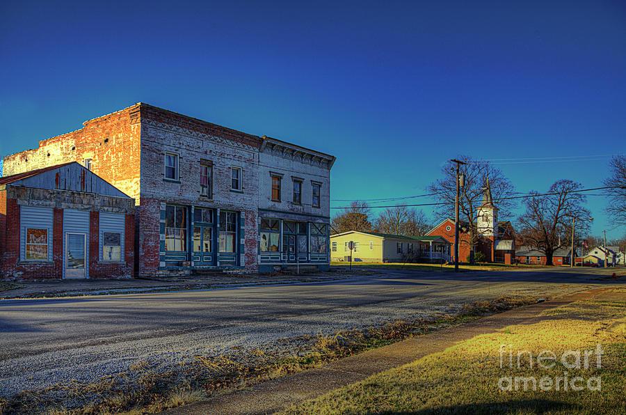 Travel Photograph - Ellis Grove Il Main Street by Larry Braun