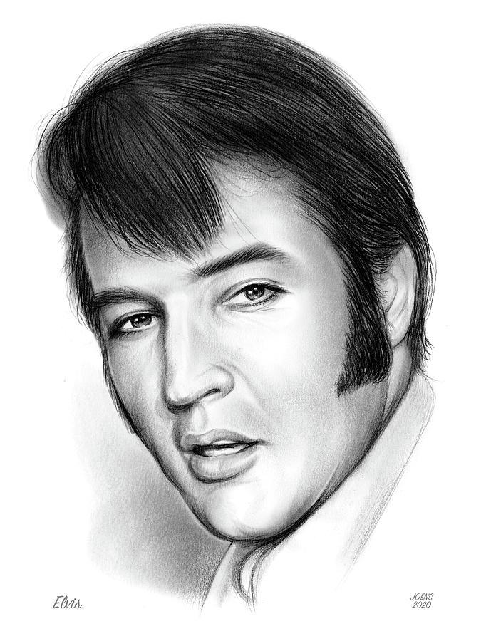Elvis 3 Drawing