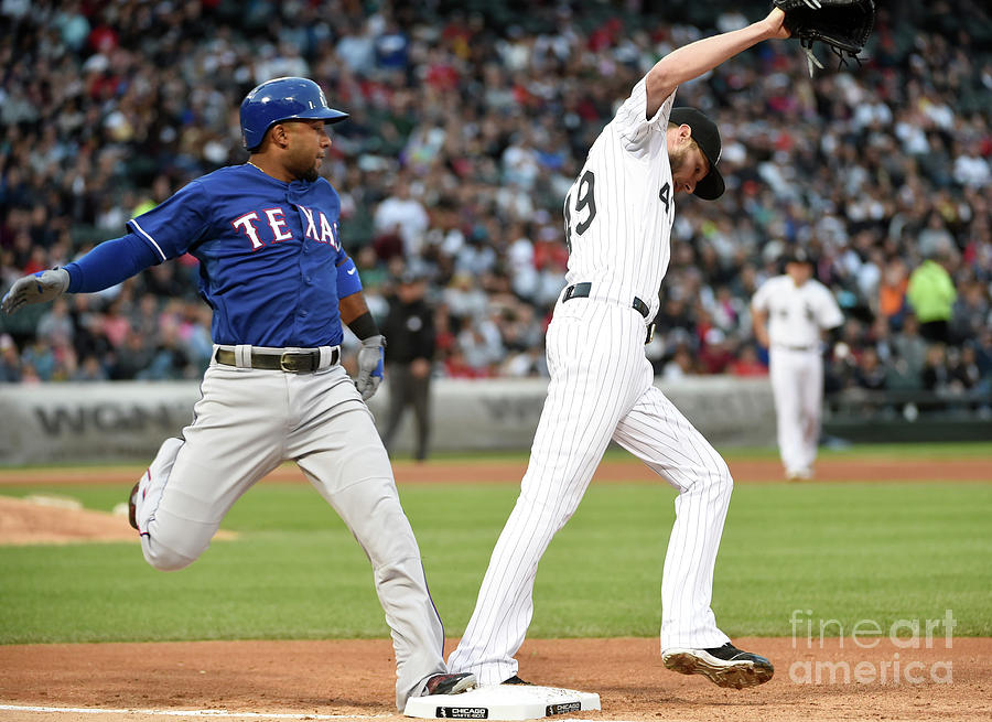 Elvis Andrus and Chris Sale Photograph by David Banks