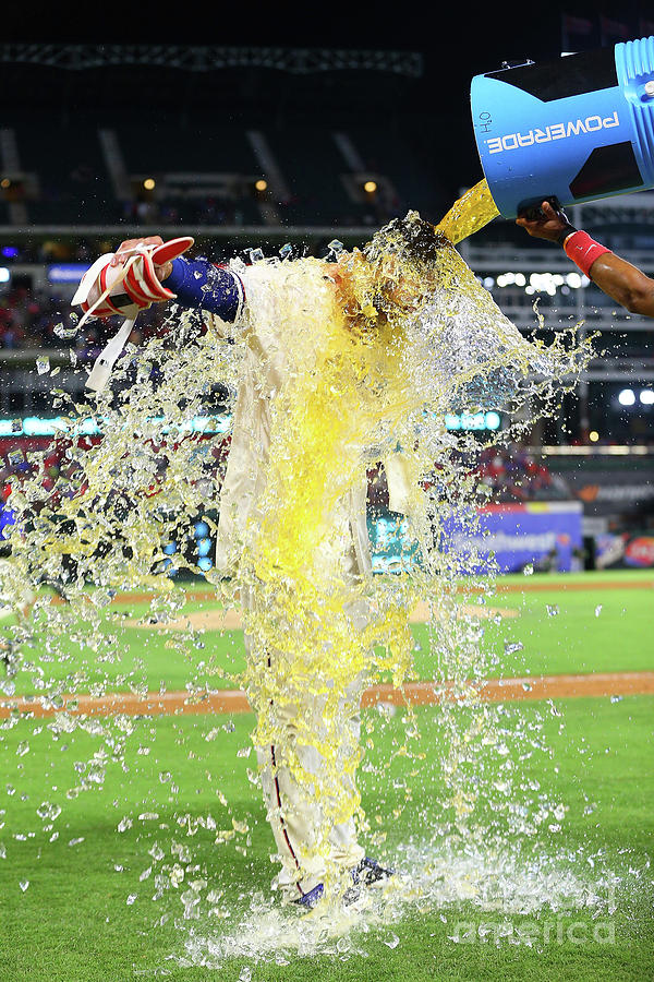 Elvis Andrus And Joey Gallo Photograph by Rick Yeatts