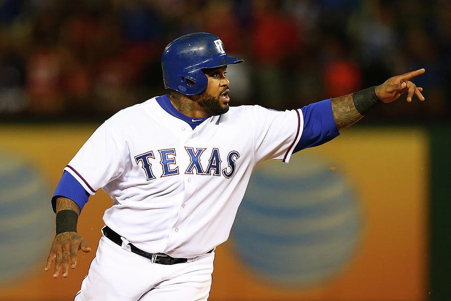Elvis Andrus and Prince Fielder Photograph by Sarah Crabill