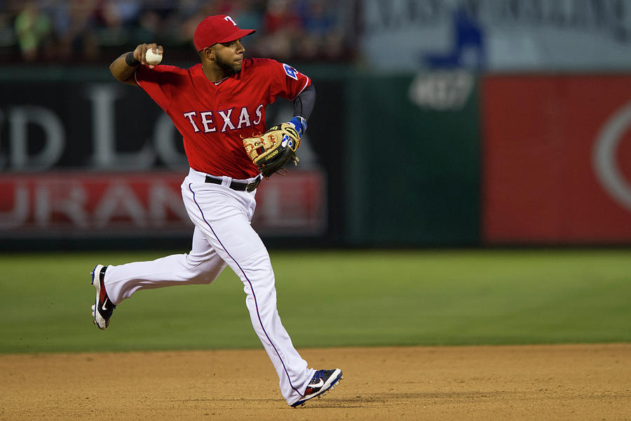 Elvis Andrus Photograph by Cooper Neill