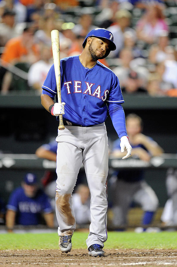 Elvis Andrus Photograph by Greg Fiume