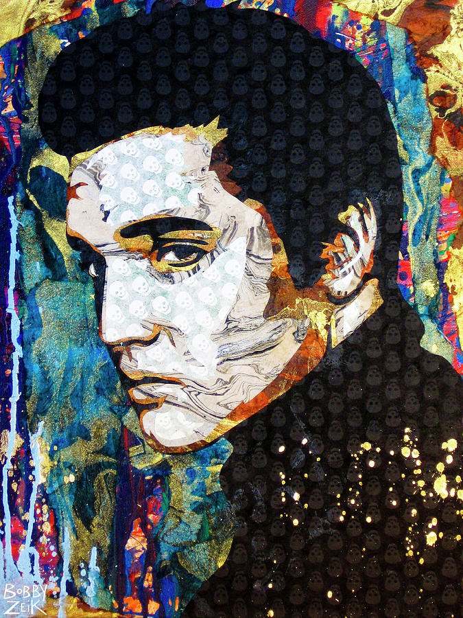 Elvis Painting - Elvis by Bobby Zeik