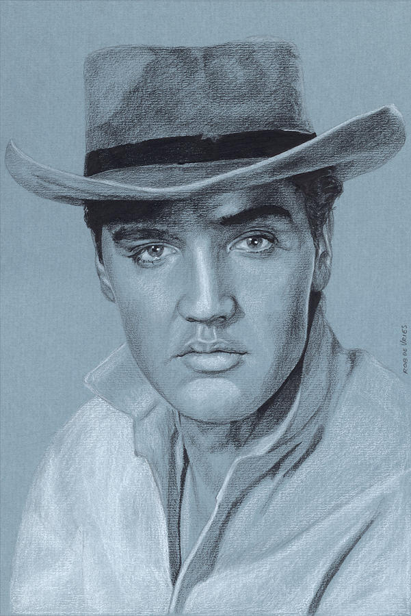Elvis Drawing - Elvis in Charcoal #214 by Rob De Vries