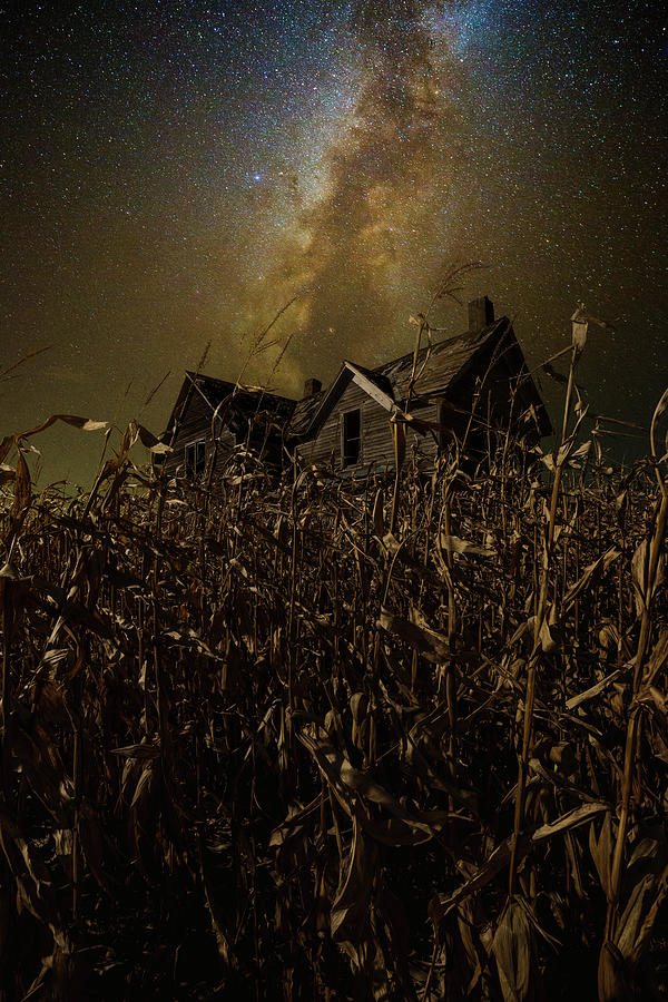 Milky Way Photograph - Embracing Nocturnal Damnation by Aaron J Groen
