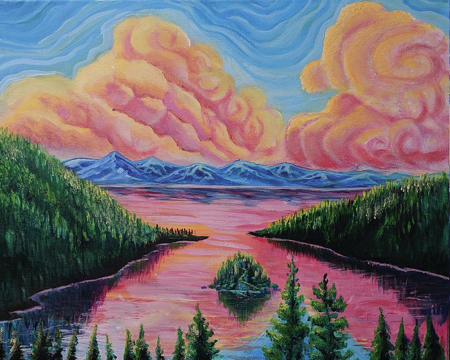 Emerald Bay Painting - Emerald Bay Sunrise by Craig Newman