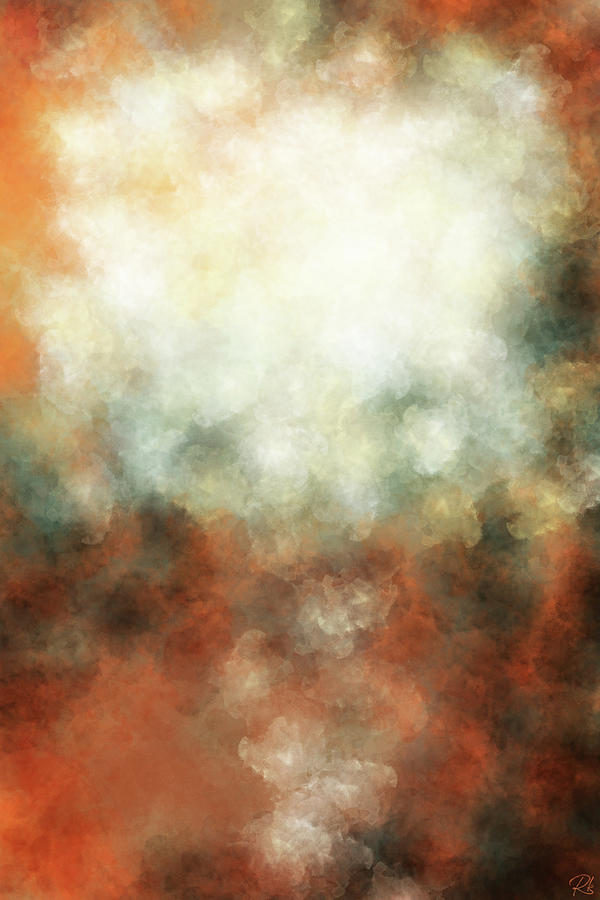 Clarity Painting - Emergence of Clarity - Contemporary Abstract - Abstract Expressionist painting - Brown, Red, White by Studio Grafiikka