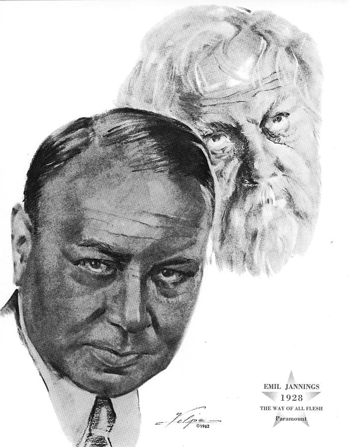 Emil Jannings By Volpe Drawing