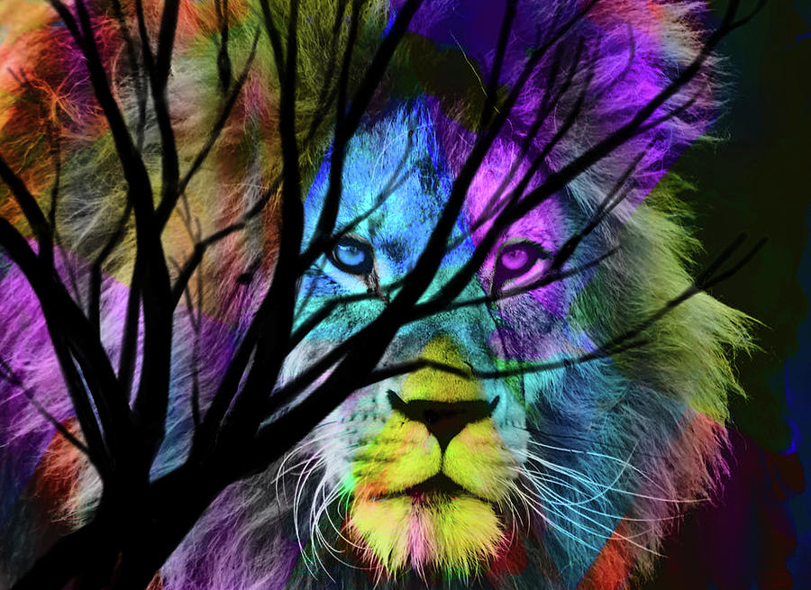 Lion Painting - Eminence by Art by Gabriele