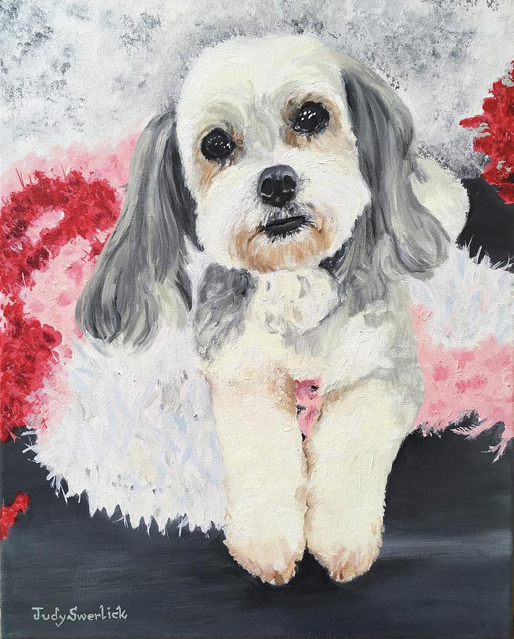 Pet Portrait Painting - Emma by Judy Swerlick