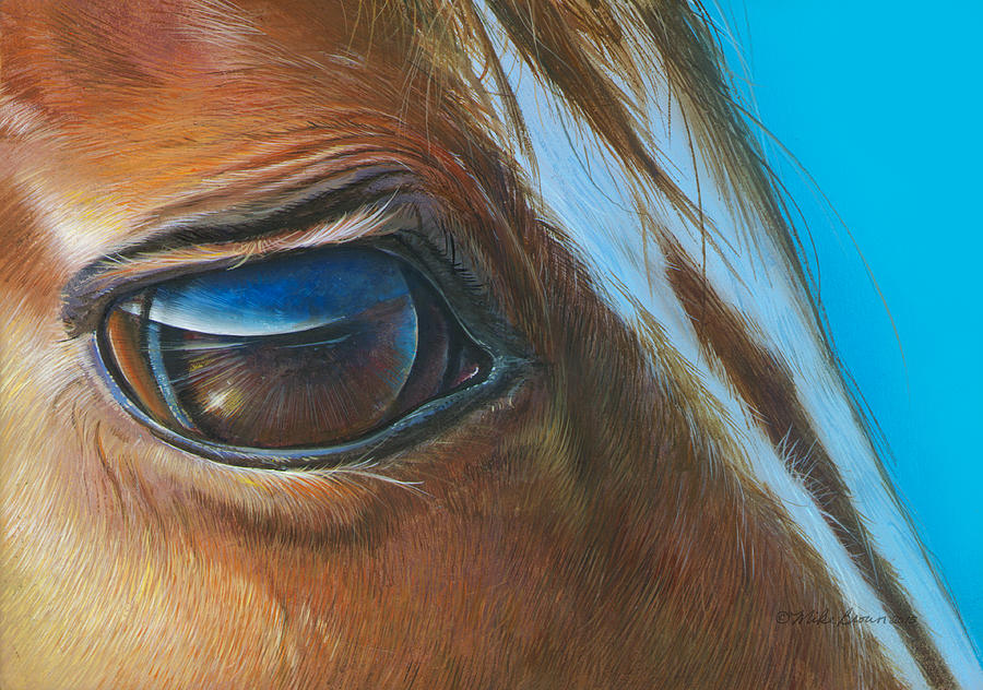 Horse Painting - Emma by Mike Brown