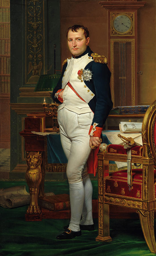Jacques-louis David Painting - Emperor Napoleon in His Study at the Tuileries, 1812 by Jacques-Louis David