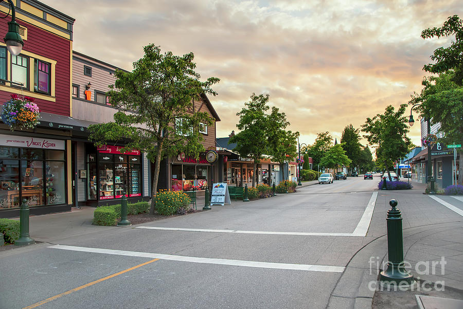 Street Of A Provincial Town On A Summer Evening Photograph