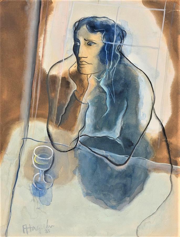En Buvant D Absinthe Painting