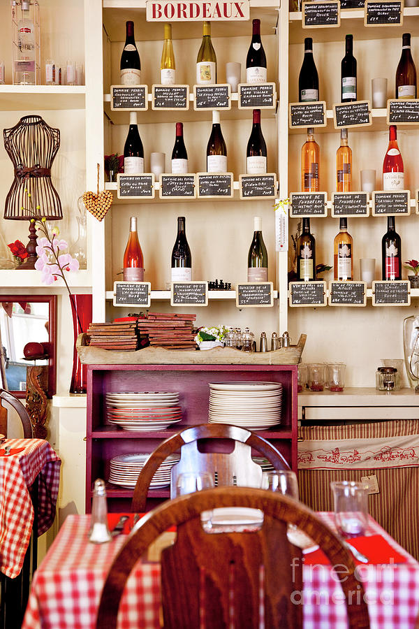 Un Petit Cafe - Provence France Photograph