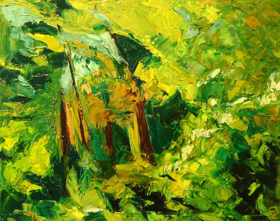 Enchanted Forest Painting - Enchanted Forest by Therese Legere