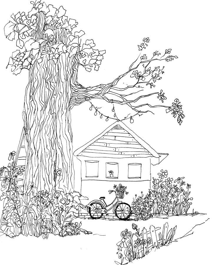 Enchanted - Ink Hand Drawing - Line Art by Patricia Awapara