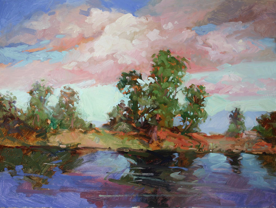 Cottonwood Trees Painting - End of the Cottonwoods by Betty Jean Billups