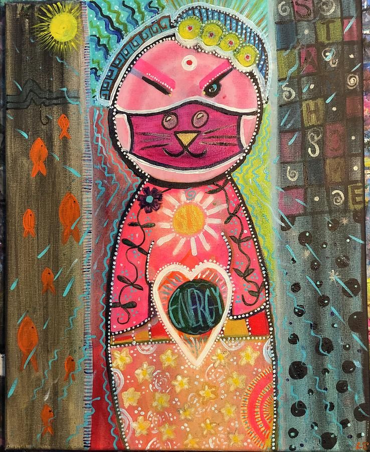 Energy Painting - Energy Cat by Lori Spielman