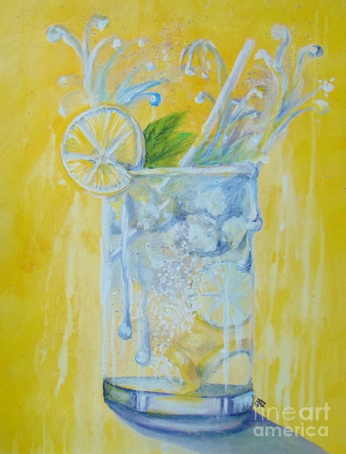 Water Painting - Energy Drink by Saundra Johnson