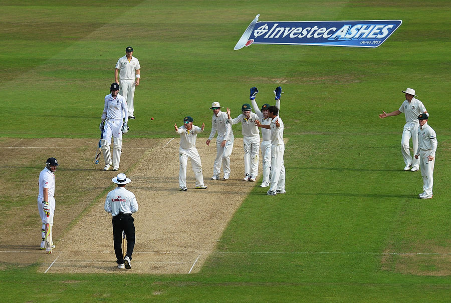 England v Australia: 1st Investec Ashes Test - Day Three Photograph by Laurence Griffiths