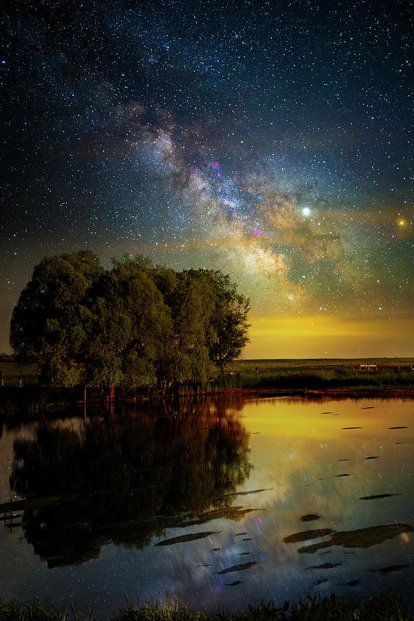 Milky Way Photograph - Enjoy the Silence by Aaron J Groen