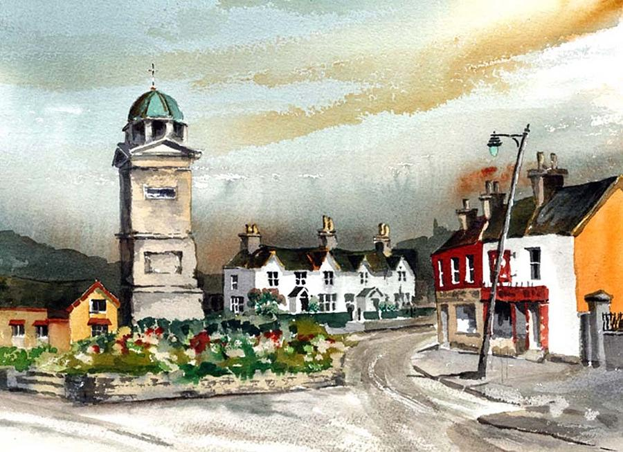Enniskerry, Monument, Wicklow by Val Byrne