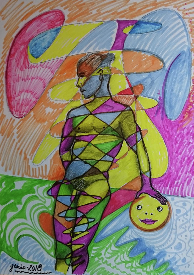 Entangled Up In Colours Drawing