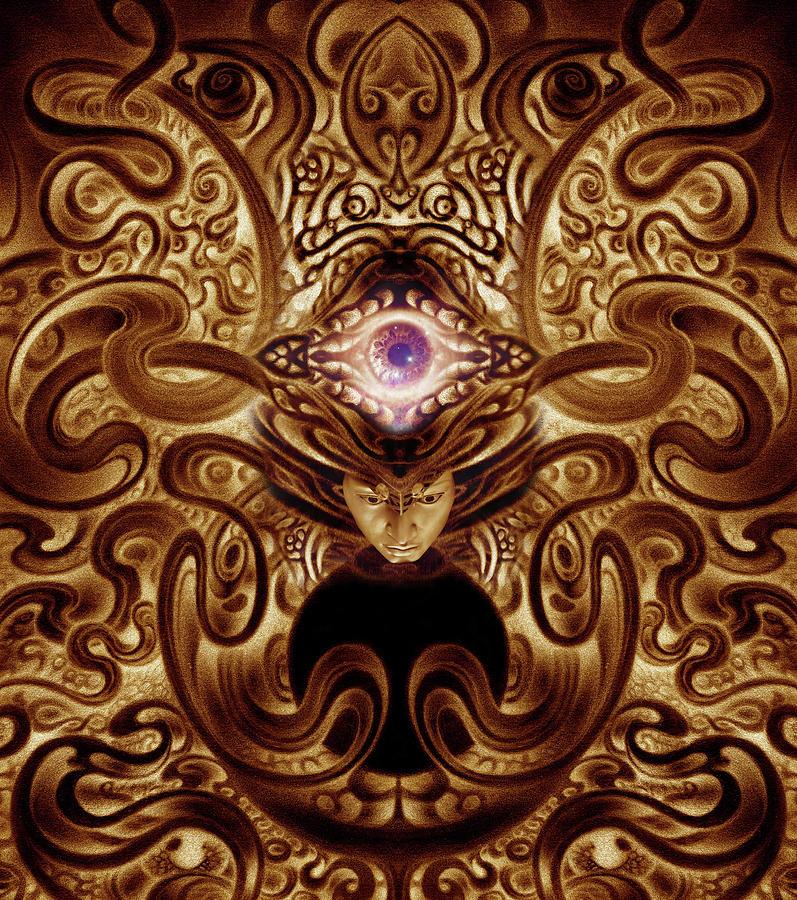 Eye Digital Art - Enter the Void by Kati Astraeir