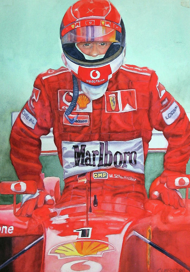 F1 Painting - Entering the office by Cory Clifford