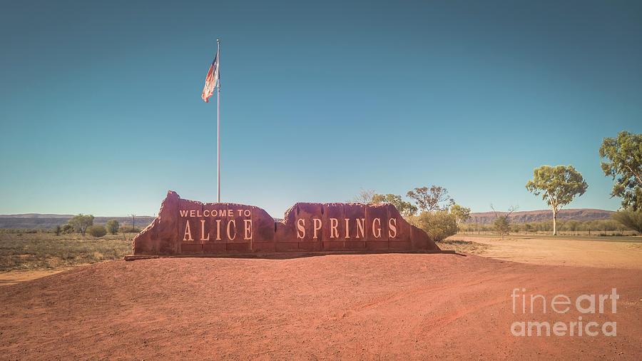 Entryway into Alice Springs by Agnes Caruso