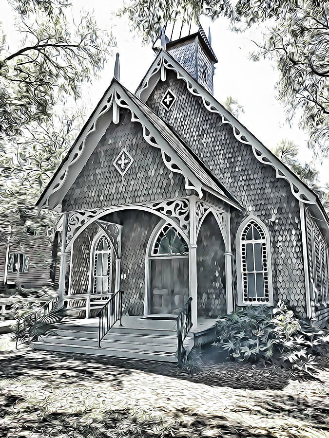 Episcopal Chapel of Ease in McClellanville South Carolina by Tracy Ruckman