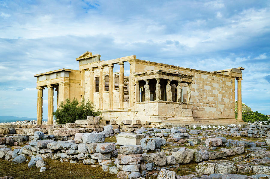 Erechtheion Temple Of The Acropolis Of Athens Photograph