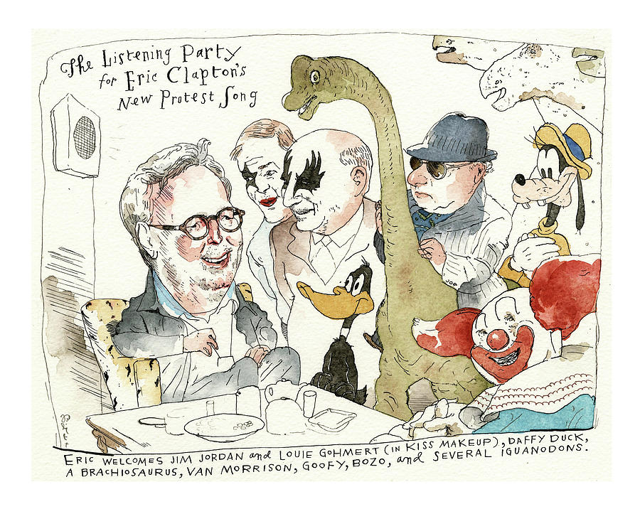 Eric Clapton Enough Is Enough Painting by Barry Blitt
