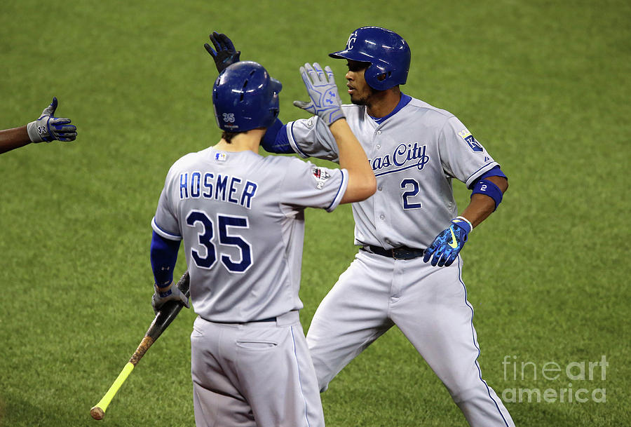 Eric Hosmer And Alcides Escobar Photograph by Vaughn Ridley