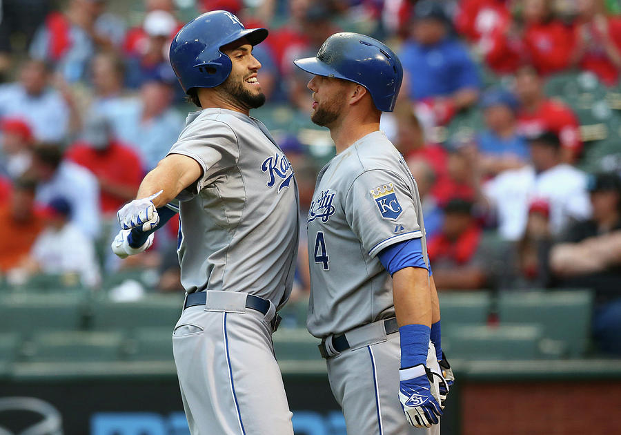 Eric Hosmer and Alex Gordon Photograph by Ronald Martinez