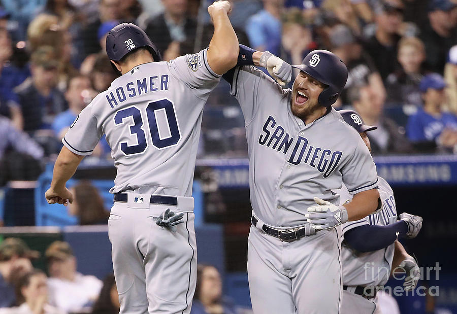 Eric Hosmer and Hunter Renfroe Photograph by Tom Szczerbowski