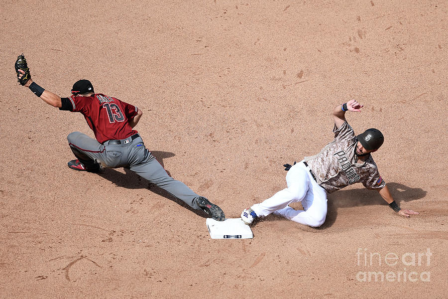 Eric Hosmer and Nick Ahmed Photograph by Andy Hayt